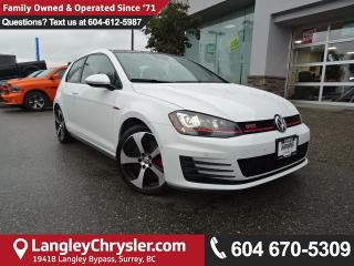 Used 2016 Volkswagen Golf GTI 3-Door Performance *ACCIDENT FREE * LOCAL BC CAR * for sale in Surrey, BC