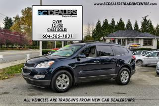 Used 2010 Chevrolet Traverse 2LT All Wheel Drive, V6, 3rd Row Seats, Clean! for sale in Surrey, BC