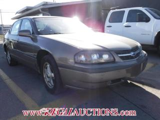 Used 2003 Chevrolet IMPALA BASE 4D SEDAN for sale in Calgary, AB