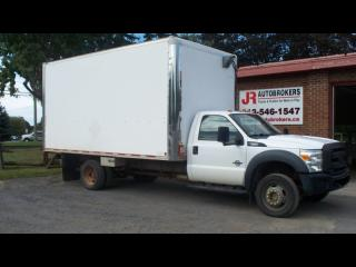 Used 2011 Ford F-550 XL 4X4 6.7L Diesel 16' Cube - Low Kms! for sale in Elginburg, ON