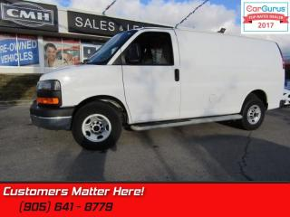 Used 2016 GMC Savana Cargo Van 1WT  PWR-GROUP, CHROME BUMPER/GRILLE, CAGE, SIDE-STEPS for sale in St Catharines, ON