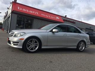Used 2013 Mercedes-Benz C-Class 4Matic, Heated Seats, Sunroof, Park Aid!! for sale in Surrey, BC