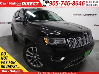 Used 2017 Jeep Grand Cherokee Overland| NAVI| PANO ROOF| LEATHER| for sale in Burlington, ON