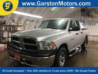 Used 2012 Dodge Ram 1500 SXT*QUADCAB*4WD*VOICE COMMANDS WITH BLUETOOTH*SIDE STEPS*ALLOYS*BOX LINER*MUD FLAPS*HITCH RECEIVER w/PIN CONNECTOR*TOW/HAUL*KEYLESS ENTRY*POWER WIND for sale in Cambridge, ON