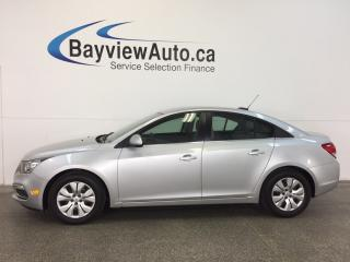 Used 2015 Chevrolet Cruze LT- TURBO|REM STRT|A/C|REV CAM|MY LINK|CRUISE! for sale in Belleville, ON