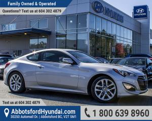 Used 2015 Hyundai Genesis Coupe 3.8 Premium ONE OWNER, BC OWNED & ACCIDENT FREE for sale in Abbotsford, BC