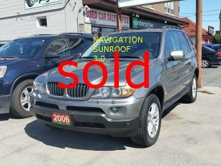 Used 2006 BMW X5 >> sold<<3.0i/Navi/sunroof for sale in Scarborough, ON