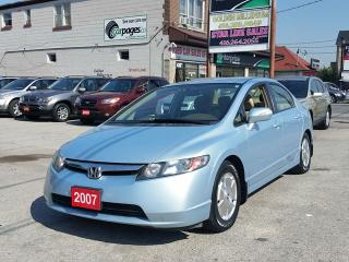 Used 2007 Honda Civic Hybrid SAVE BIG ON GAS for sale in Scarborough, ON