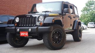 Used 2012 Jeep Wrangler Unlimited SAHARA, LOW KMs, 4X4 for sale in North York, ON