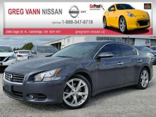 Used 2012 Nissan Maxima 3.5 SV w/all leather,pwr moonroof,pwr group,heated seats,climate control,rear cam for sale in Cambridge, ON