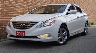 Used 2011 Hyundai Sonata Limited, Low KMs, Navi, Rear Cam, Leather, Sunroof for sale in North York, ON