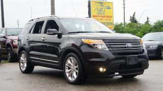 Used 2015 Ford Explorer LIMITED, 4X4, 7 Pass, Navi, Rear Cam, Leather, Pan for sale in North York, ON