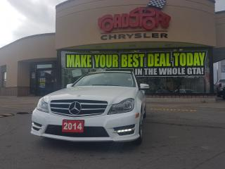 Used 2014 Mercedes-Benz C-Class C 300 NAVI WHITE ON TAN LEATHER REAR CAM for sale in Scarborough, ON