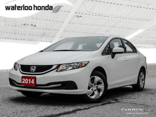 Used 2014 Honda Civic LX Bluetooth, Automatic, A/C, Heated Seats and more! for sale in Waterloo, ON