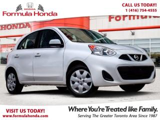Used 2016 Nissan Micra SV   BLUETOOTH   FUEL EFFICIENT! for sale in Scarborough, ON
