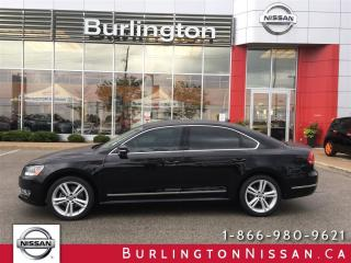 Used 2015 Volkswagen Passat Highline, NAVi, 1 ONR, ACCIDENT FREE ! for sale in Burlington, ON
