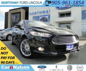 Used 2015 Ford Fusion SE | REAR CAMERA | HEATED LEATHER SEATS | for sale in Brantford, ON