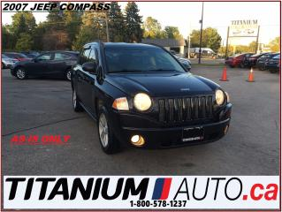 Used 2007 Jeep Compass Sport+A/C+AS-IS ONLY+RUNS & DRIVES+TRADE IN SPECIA for sale in London, ON