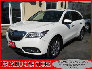 Used 2016 Acura MDX ELITE SH-AWD NAVIGATION TV DVD LEATHER SUNROOF for sale in Toronto, ON