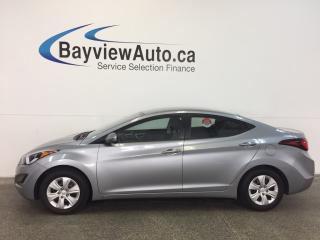 Used 2015 Hyundai Elantra L- 6 SPD! 1.8L! PWR GROUP! LOW KM'S! BUDGET BUDDY! for sale in Belleville, ON