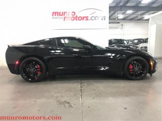 Used 2015 Chevrolet Corvette Stingray Blacked NPP Exhaust Red Calipers for sale in St George Brant, ON