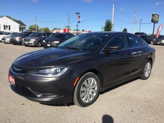 Used 2015 Chrysler 200 LX * POWER GROUP * PREMIUM CLOTH SEATING, LOW KM for sale in London, ON
