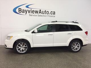 Used 2016 Dodge Journey R/T- AWD|REM STRT|HTD LTHR|NAV|ALPINE|REV CAM! for sale in Belleville, ON
