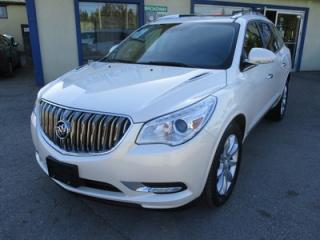 Used 2014 Buick Enclave LOADED PREMIUM EDITION 7 PASSENGER 3.6L - V6.. AWD.. CAPTAINS.. 3RD ROW.. LEATHER.. NAVIGATION.. DUAL SUNROOF.. BACK-UP CAMERA.. HEATED/AC SEATS.. for sale in Bradford, ON