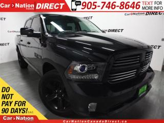 Used 2016 Dodge Ram 1500 Sport| NAVI| LEATHER-TRIMMED SEATS| LOCAL TRADE| for sale in Burlington, ON