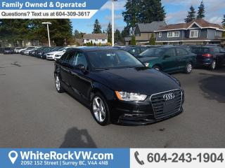 Used 2016 Audi A3 2.0T Komfort Leather Upholstery, Heated Front Seats & Radio Data System for sale in Surrey, BC