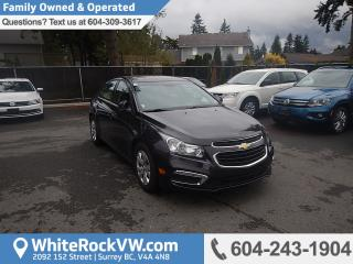 Used 2015 Chevrolet Cruze 1LT Remote keyless Entry, Radio Data System & Rear View Camera for sale in Surrey, BC