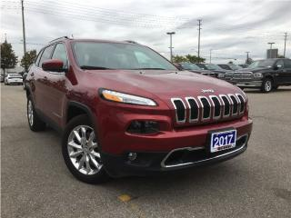 Used 2017 Jeep Cherokee LIMITED**FORMER COMPANY VEHICLE**POWER LIFT GATE** for sale in Mississauga, ON