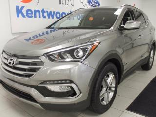 Used 2017 Hyundai Santa Fe Sport Santa Fe Sport AWD with back up cam, heated leather seats and steering wheel, and a smooth ride. for sale in Edmonton, AB