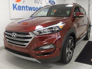 Used 2017 Hyundai Tucson Tuscon 1.6 AWD with dual panel moonroof power seats and decked out in leather for sale in Edmonton, AB