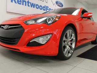 Used 2015 Hyundai Genesis Coupe 3.8 GT Coupe, NAV, sunroof, back up cam, heated seats. It's packed full for sale in Edmonton, AB