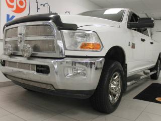 Used 2012 Dodge Ram 3500 SLT- White 3500 with power seats and a unique interior for sale in Edmonton, AB