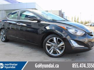 Used 2015 Hyundai Elantra NAV/LEATHER/SUNROOF/LOWKM for sale in Edmonton, AB