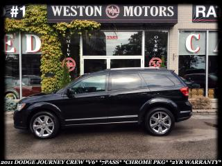 Used 2011 Dodge Journey SXT *CREW *V6 *7PASS *CHROME PKG *2YR WARRANTY INC for sale in York, ON
