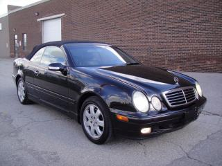 Used 2002 Mercedes-Benz CLK320 Convertible LOW KM-CONVERTIBLE,ONE OWNER,CLEAN CARPROOF,MINT!! for sale in North York, ON