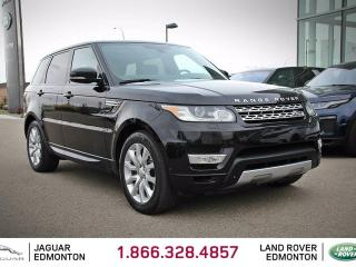 Used 2014 Land Rover Range Rover Sport V6 HSE - CPO 6yr/160000kms manufacturer warranty included until March 19, 2020! CPO rates starting at 1.9%! Local One Owner Trade In | No Accidents | 3M Protection Applied | Navigation | Park Assist | Surround Camera System | Parking Sensors | Rever for sale in Edmonton, AB