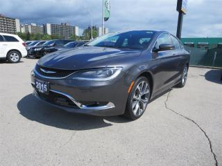 Used 2015 Chrysler 200 C - Remote Start, Back Up Cam, Heated Seats for sale in London, ON