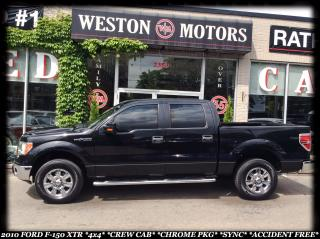 Used 2010 Ford F-150 XTR*4X4*CREW CAB*CHROME PKG*SYNC*ACCIDENT FREE* for sale in York, ON