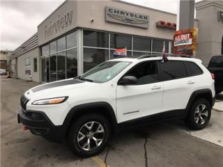 Used 2017 Jeep Cherokee Trailhawk..Leather/Pan Roof/Navi for sale in Burlington, ON