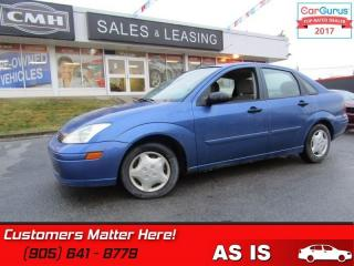 Used 2002 Ford Focus SE  4 DR SEDAN SE (AS IS - UNCERTIFIED AS TRADED IN) for sale in St Catharines, ON