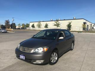 Used 2003 Toyota Corolla S, Automatic, Sunroof,3/Y warranty available for sale in North York, ON