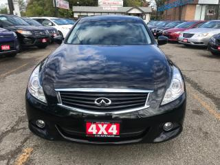Used 2013 Infiniti G37X  Luxury AWD LEATHER SUNROOF NO ACCIDENTS 1 OWNER for sale in Brampton, ON