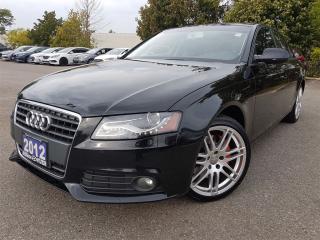 Used 2012 Audi A4 2.0T Quatro-Premium-Leather-Sunroof for sale in Mississauga, ON
