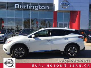 Used 2017 Nissan Murano SL, NAVi, PANARAMA ROOF, ACCIDENT FREE ! for sale in Burlington, ON