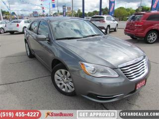 Used 2013 Chrysler 200 LX | CAR LOANS FOR ALL CREDIT SITUATIONS for sale in London, ON