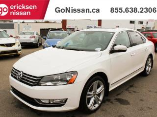 Used 2013 Volkswagen Passat 2.0 TDI COMFORTLINE - LEATHER, SUNROOF, AUTO for sale in Edmonton, AB